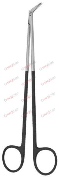 """HEGEMANN-DIETRICH SUPERCUT Vascular Scissors 17,5 cm, 7"""", 60˚ angled on side"""