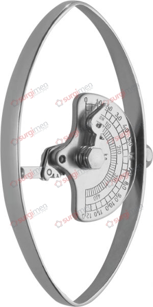 COLLIN Dynamometer for adults, pressure 70 kg 12,5 cm, 5""