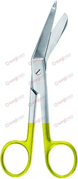 "LISTER Bandage Scissors with tungsten carbide edges 18 cm, 7"""