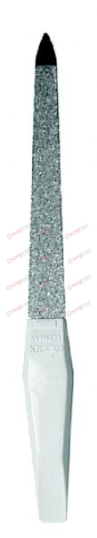 """Diamond cover coated nail file, with plastic handle 13 cm, 5⅛"""""""