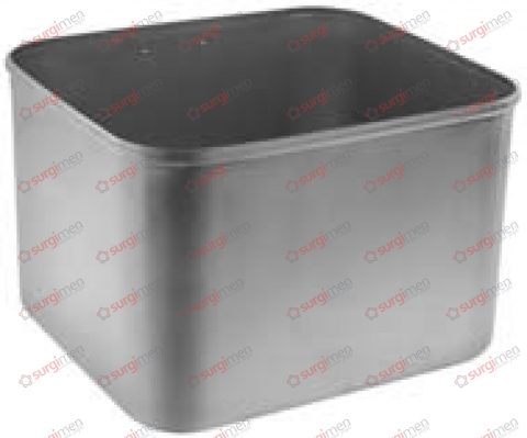 Brush collecting container, with suspension hook (55-595-01) 205 x 185 x 135 mm